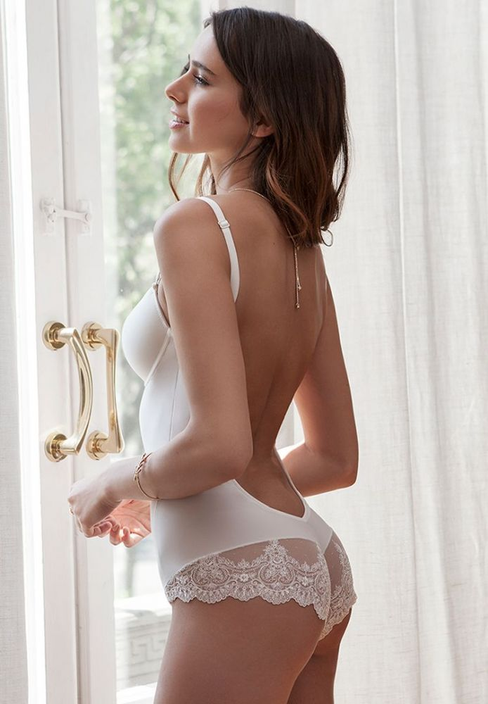 Backless Bodysuit in Ivory
